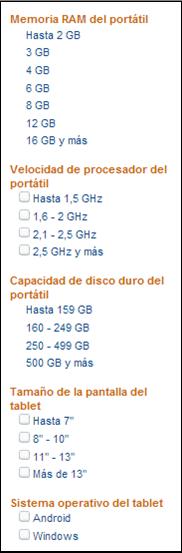 Filtrado Amazon