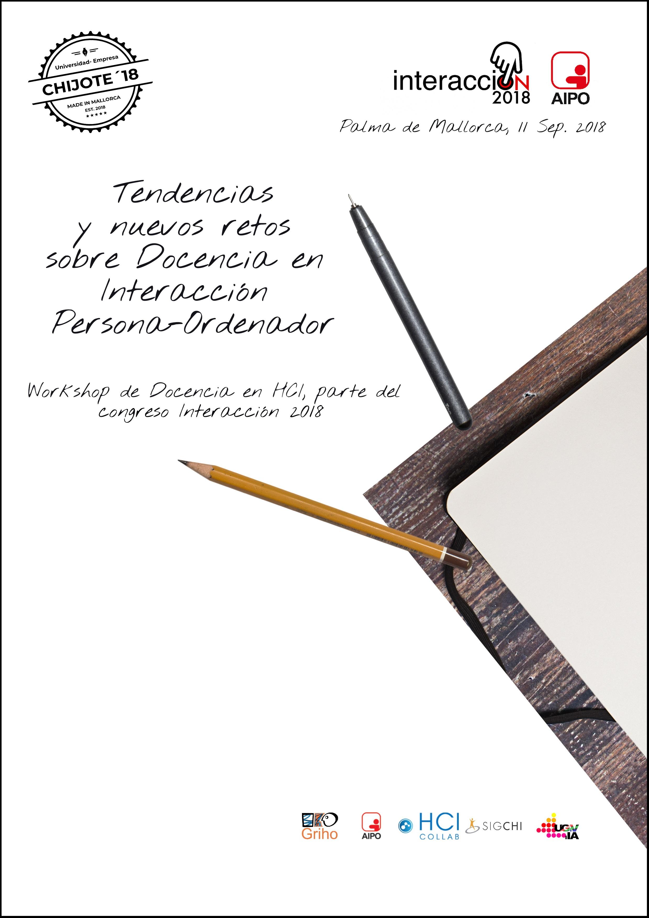 Publicación resultado deCHIJOTE'18 – II JOrnada de Trabajo sobre Enseñanza de CHI