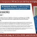 «No Research, No Party», charla a cargo de Tomàs Modroño